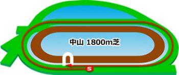 中山競馬場のコースの特徴:芝1800m