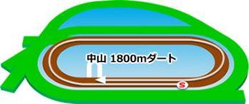 中山競馬場のコースの特徴:ダート1800m