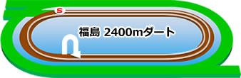 福島競馬場のダートコース2400m