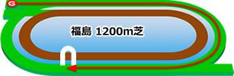 福島競馬場の芝コース1200m