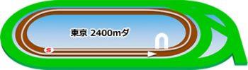 東京競馬場のダートコース2400m