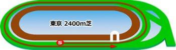 東京競馬場の芝コース2400m
