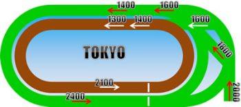 東京競馬場の距離別コースの画像