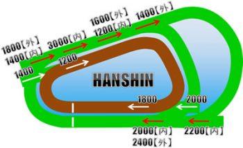 阪神競馬場のコース画像