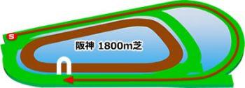 阪神競馬場の芝コース1800m