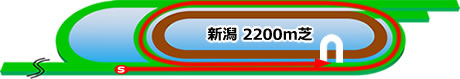 新潟競馬場の特徴芝2200m