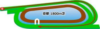 京都競馬場の芝コース1800m