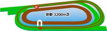 京都競馬場の芝コース3200m